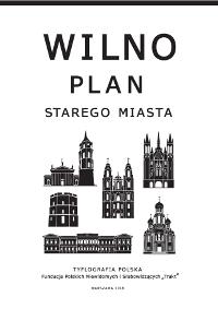 Okładka - Wilno. Plan Starego Miasta