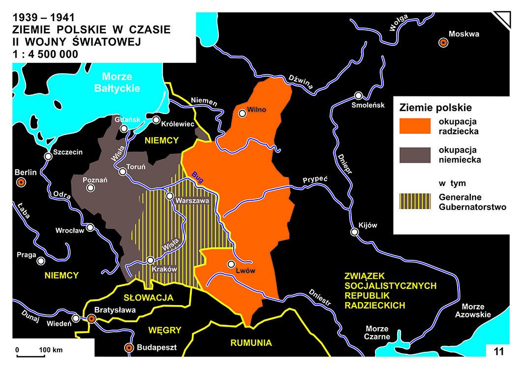 KOLOR_11_1939-1941_ZIEMIE POLSKIE W CZASIE II WOJNY ŚWIATOWEJ
